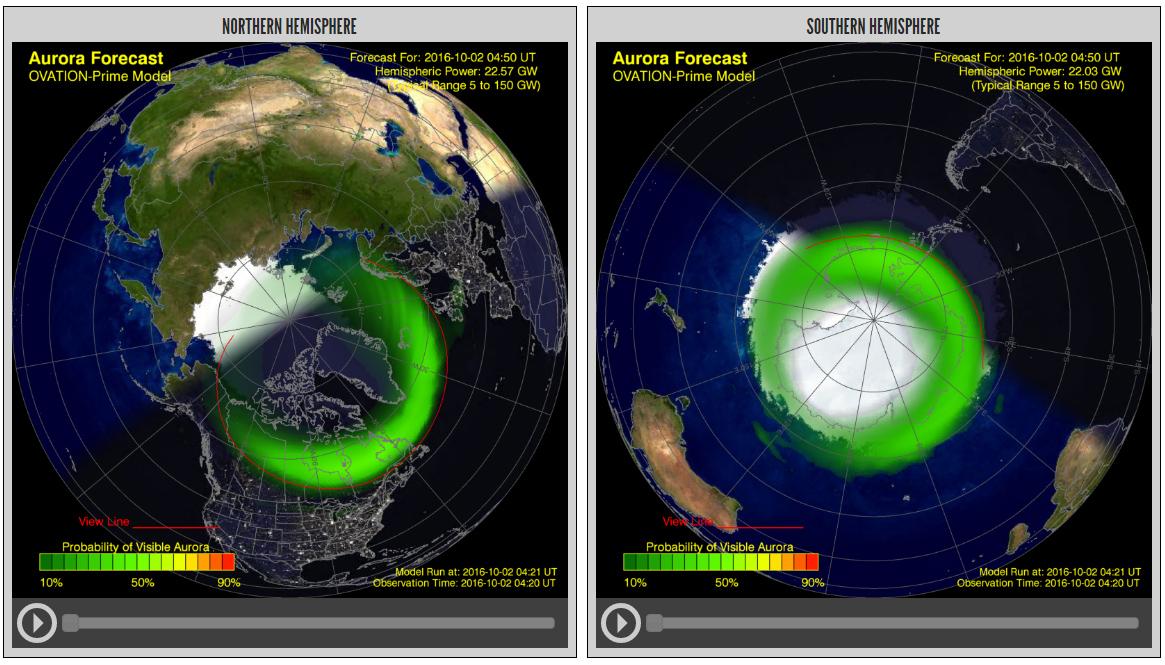 Aurora Borialis Science Image